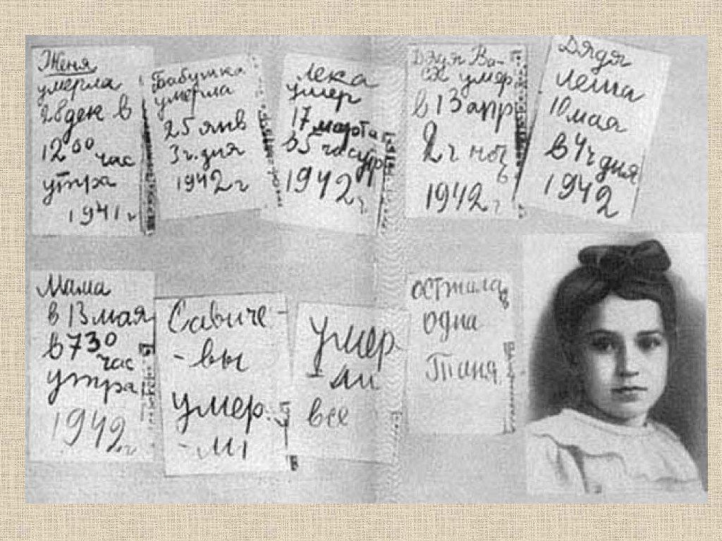 Дневник Тани Савичевой - Город-герой <b>Ленинград</b>